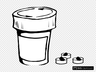 Pills And Bottle Icon Size