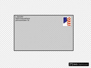 Addressed Envelope With Stamp