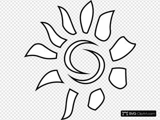 Sun Pattern Outline
