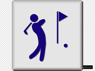 Hotel Icon Golf Course Clipart