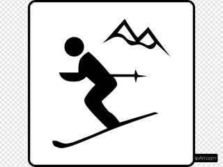 Hotel Icon Near Ski Area SVG Clipart