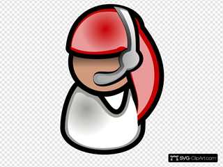 Operator With Headphones SVG Clipart