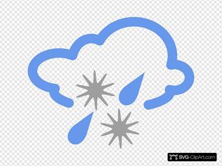 Hail And Rain Weather Symbol