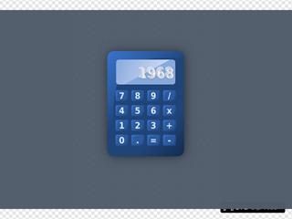 Blue Calculator