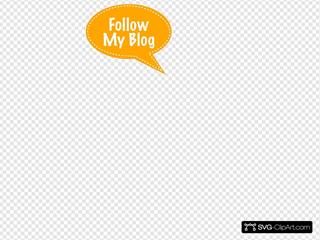 Follow My Blog Bubble Orange