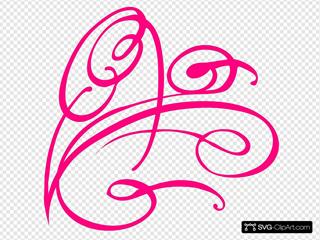 Pink Decorative Swirl