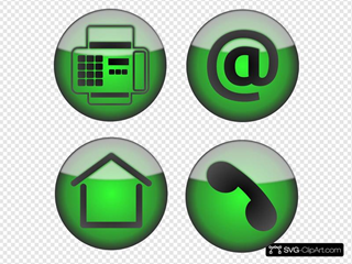 Fax At Home Phone Icons