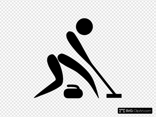 Olympic Sports Curling Pictogram