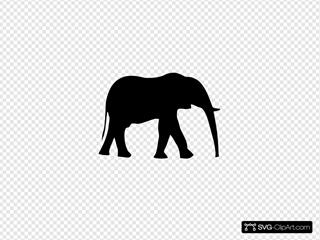 Elephant Silhouet