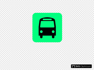 Bus Station Icon Black Green