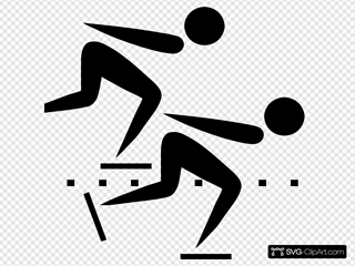 Olympic Sports Speed Skating Pictogram