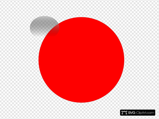 Glossy Red Circle Icon With 2