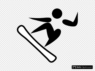 Olympic Sports Snowboarding Pictogram