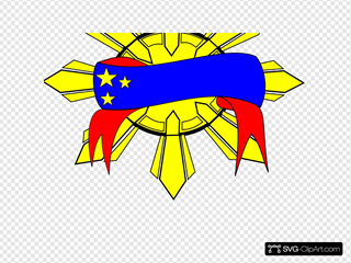 Sun Banner Logo Clip art, Icon and SVG - SVG Clipart
