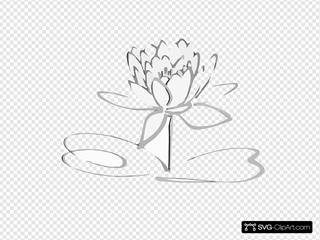 Lotus Logo Black Grayshadow Flower Only