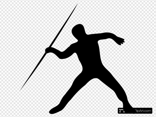 Javelin Throw Silhouette