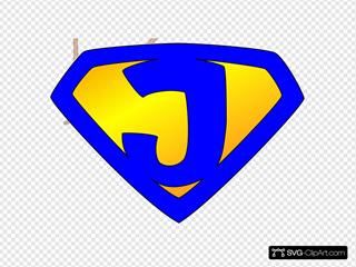Jesus Superhero Logo Blue/yellow