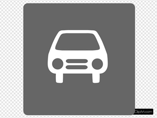 Hotel Icon Has Indoor Parking Clip Art - Gray/white