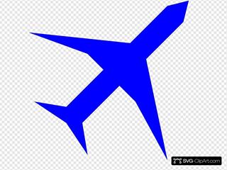 Boing Blue Freight Plane Icon