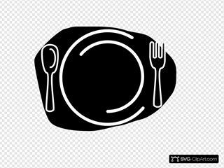 Knife And Fork Clipart Blck