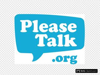 Please Talk Logo