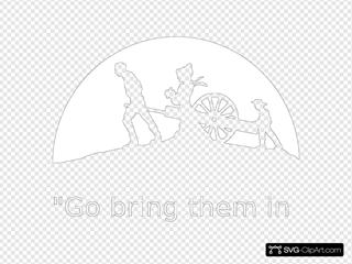 Hand Wagon Silhouette