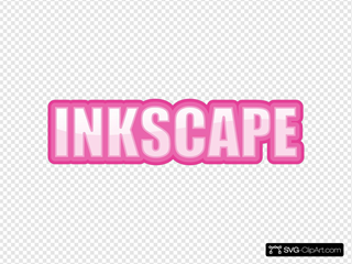 Pink Outlined Font Sample