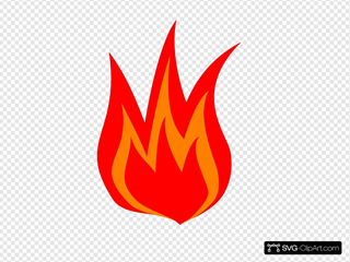 Red Fire Logo Clipart