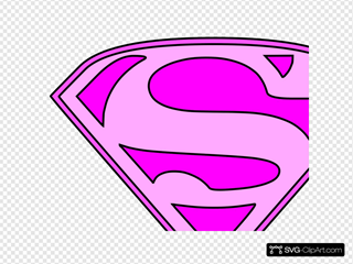 Pink Superman Logo