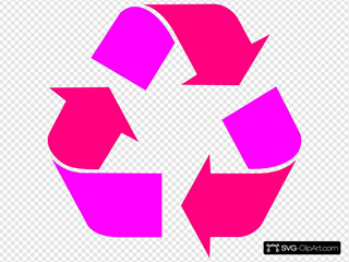 Two Tone Pink Recycle Symbol