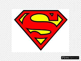 Superman Logo SVG Clipart