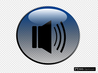 Audio Speaker Glossy Icon