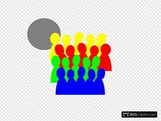 Smaller Crowd 3color