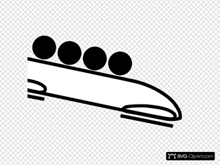 Olympic Sports Bobsleigh Pictogram