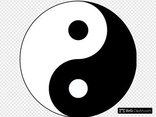 Ying Yang Para Logo De Takwondo