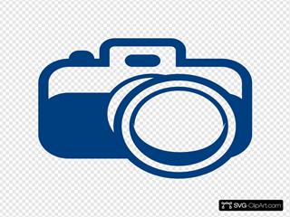 Camera Blue Logo Big