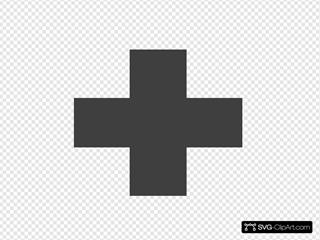 Grey Red Cross Logo