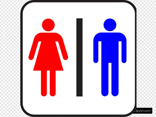Colored Sign Bathroom / Wc / Man & Woman
