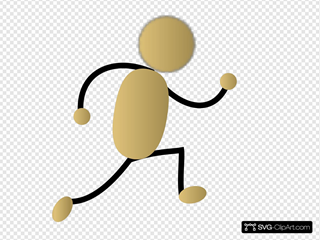 Golden Jogging Man