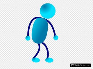 Stick Man Sad Walking