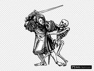 Man Fighting Death