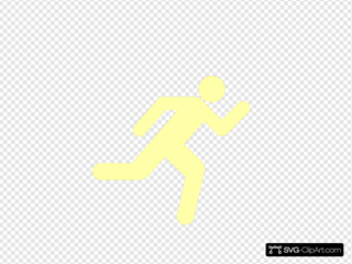 Running Icon On Transparent Background