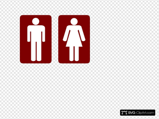 Restroom Man And Woman SVG Clipart