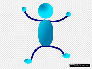 Hugging Blue Stick Man