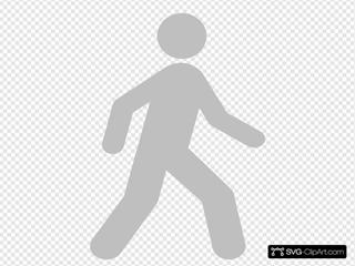 Walking Man Black