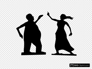 Man And Woman Dancing Silhouettes