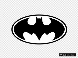 Bat Man SVG Clipart