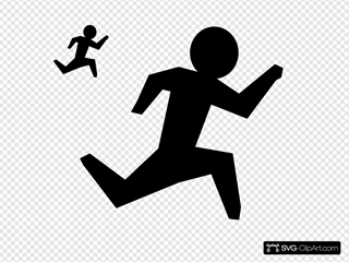 Run Man SVG Clipart