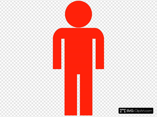Red Man Symbol Clipart