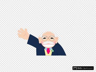 Waving Old Man